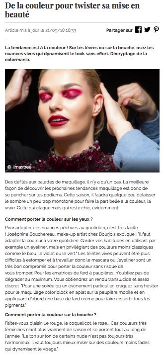 Le Journal Des Femmes - Color Block - Septembre 2018